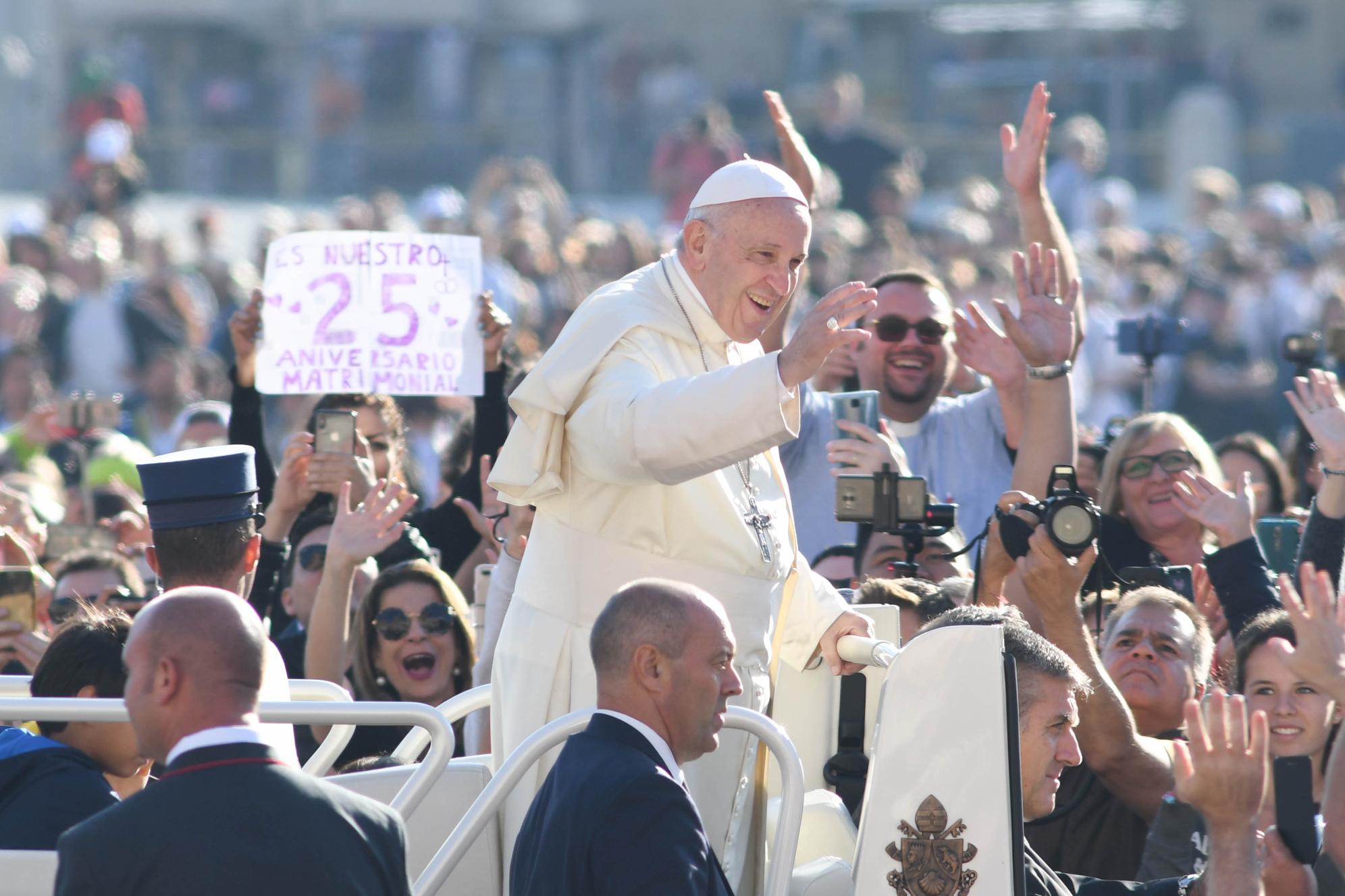 Anniversario Matrimonio Vaticano.Vaticano 10 Ottobre 2018 Udienza Generale Di Papa Francesco In